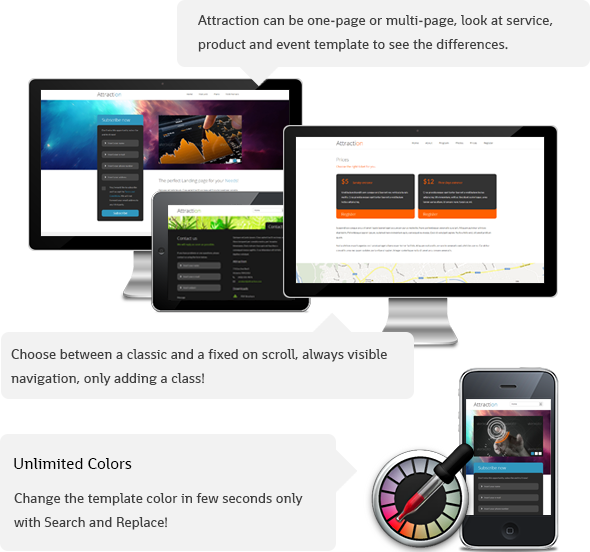 Attraction Responsive WordPress Landing Page - 9
